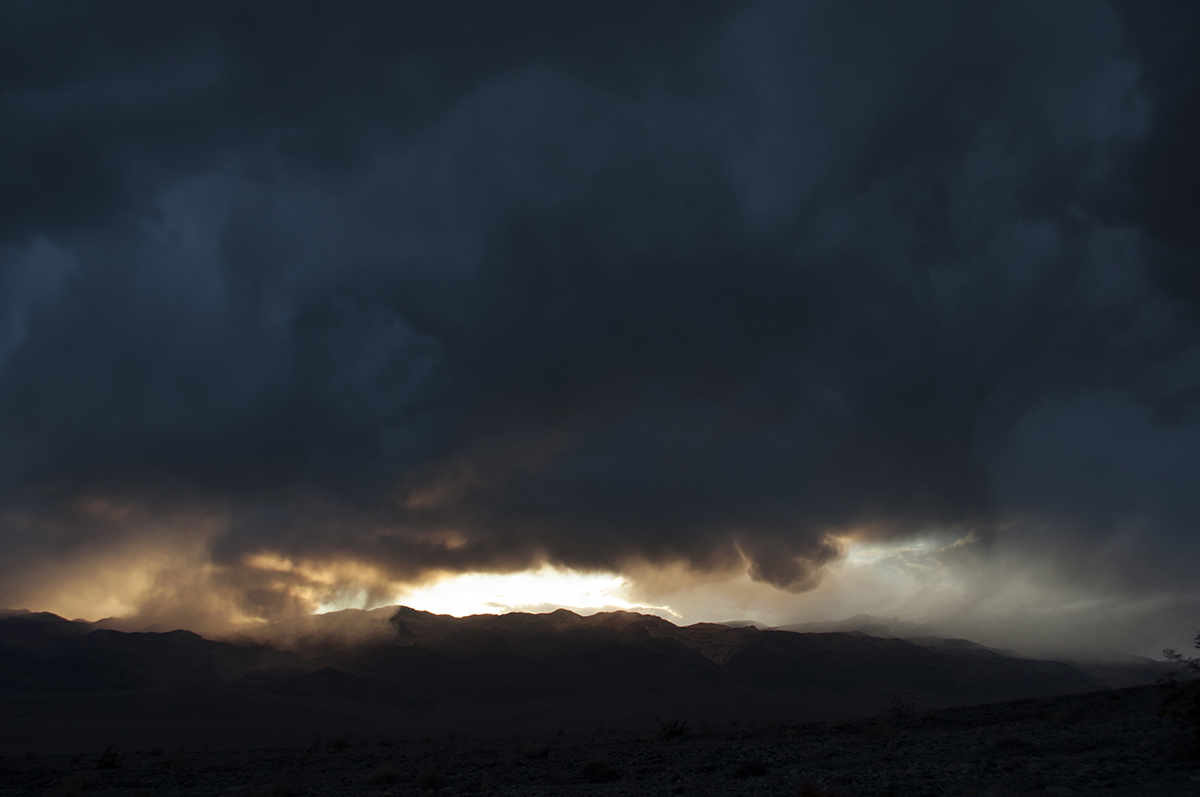 photo - death valley rain cloud